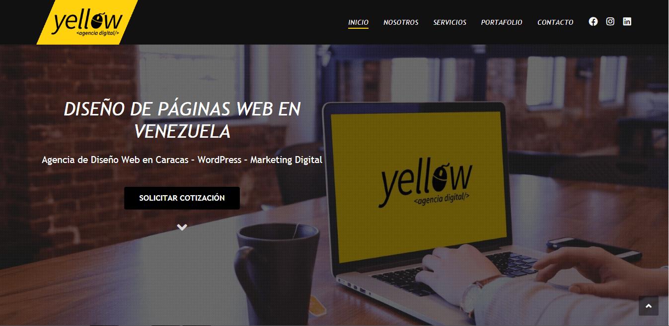yellow agencia digital SEO en venezuela