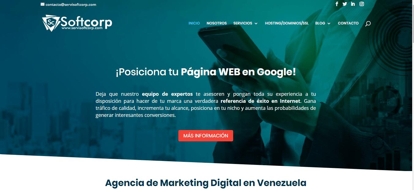 softcorp agencia de marketing digital en Venezuela