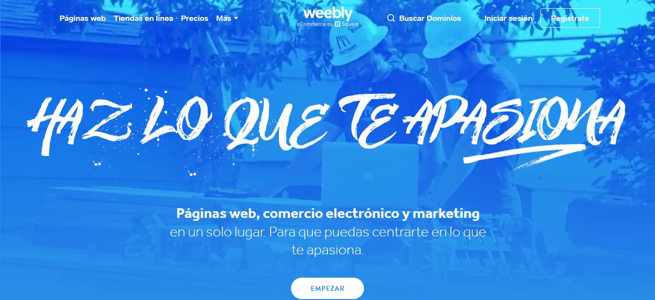 Como crear una pagina web en Weebly