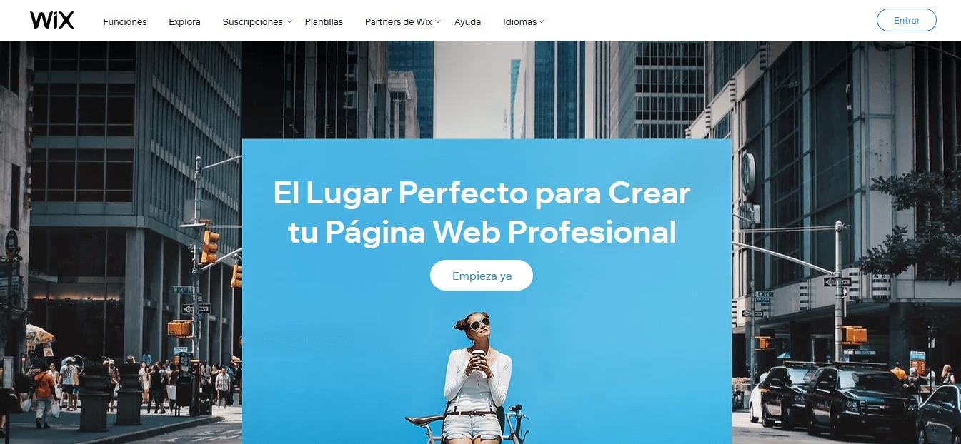 Como hacer una pagina web en Wix