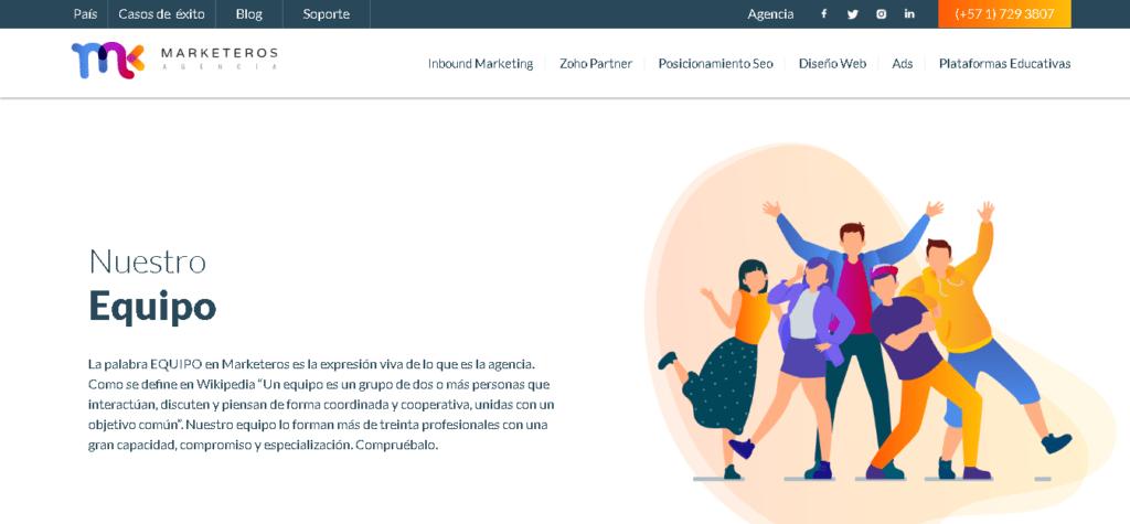 Agencia SEO Marketeros