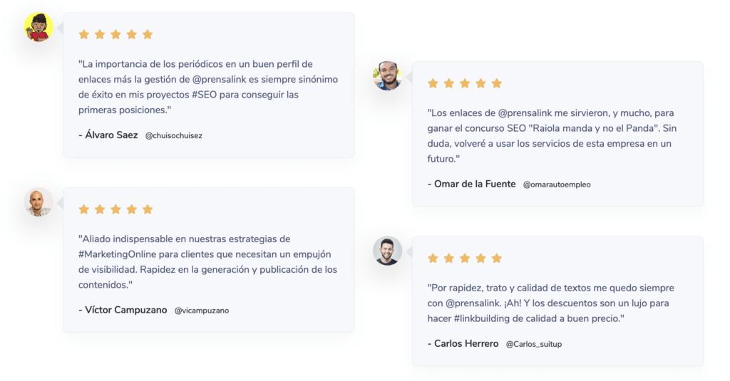 Reviews Prensalink