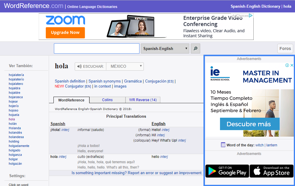 Ejemplo de campaña de Google Adwords Display