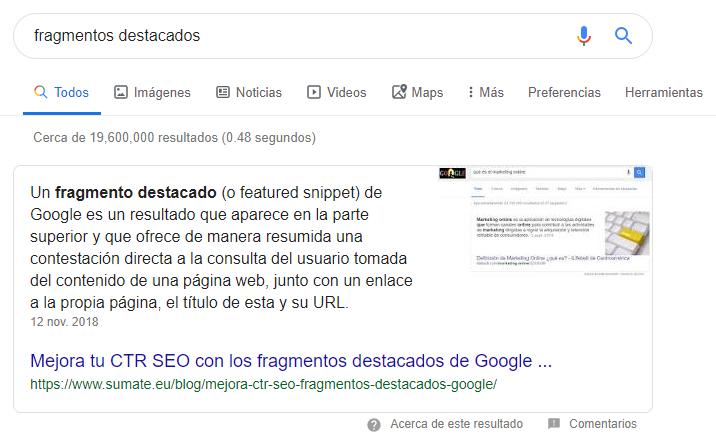 Posición cero de Google