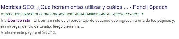 Subtítulos página de resultados de Google